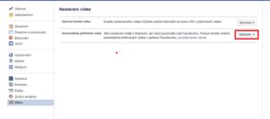 Vypnutí videa Facebook